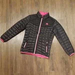 Girls Snozu winter coat/jacket black w/pink lining